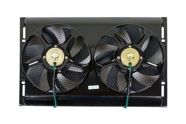Вентилятор осевой двойной в раме 12V 2х80W Pull